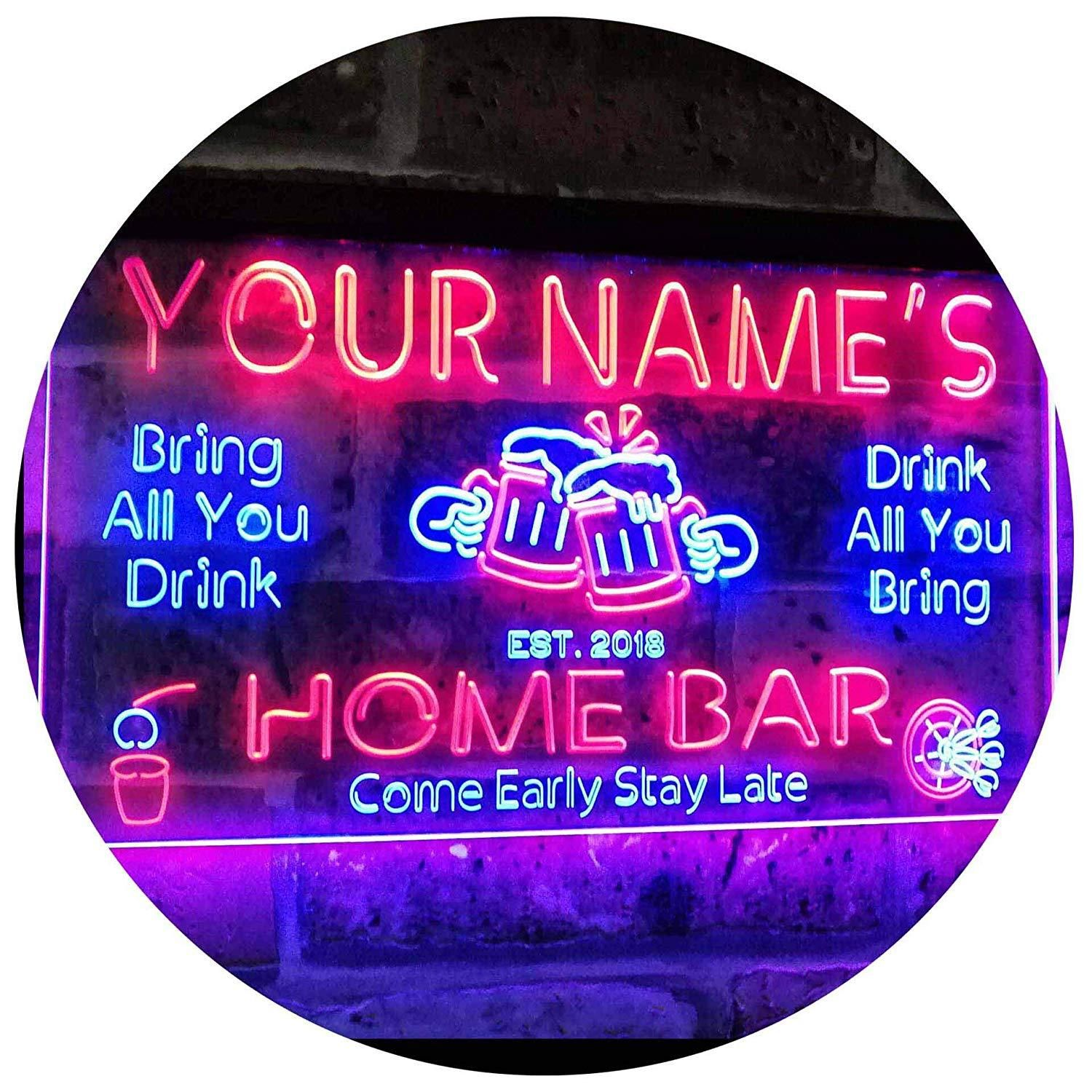 Home bar pub Sign Lighted Sign Coca-Cola Coke LED Sign Personalized