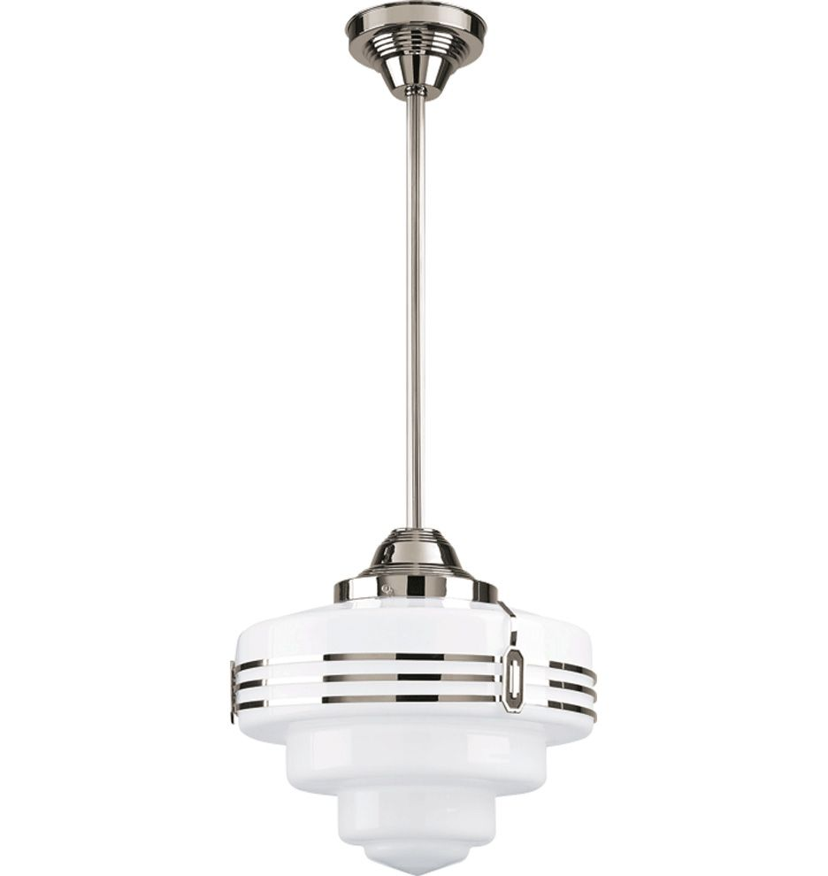 "Art Deco Outdoor Hanging Lights: Hollywood 6"" Fitter Rod Pendant In 2019"