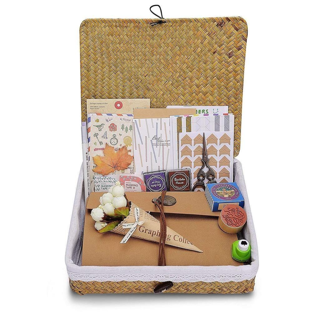 Innocheer scrapbook with photo album storage box pages craft