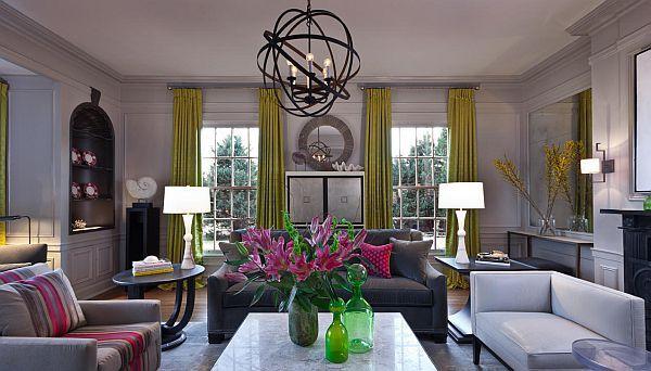 Trendy Color Combo Hot Pink Lime Green Pink Living Room Living Room Design Modern Blue And Pink Living Room