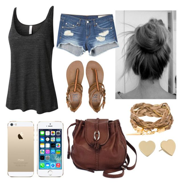 """"""""""" by parker1126 on Polyvore featuring LE3NO, Billabong, rag & bone, FingerPrint Jewellry, Brighton and Kate Spade"""
