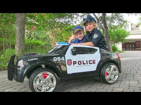 Ride On Police Car For Kids Unboxing Review And Riding Dodge Charger Kids Police Car Police Cars Police Truck