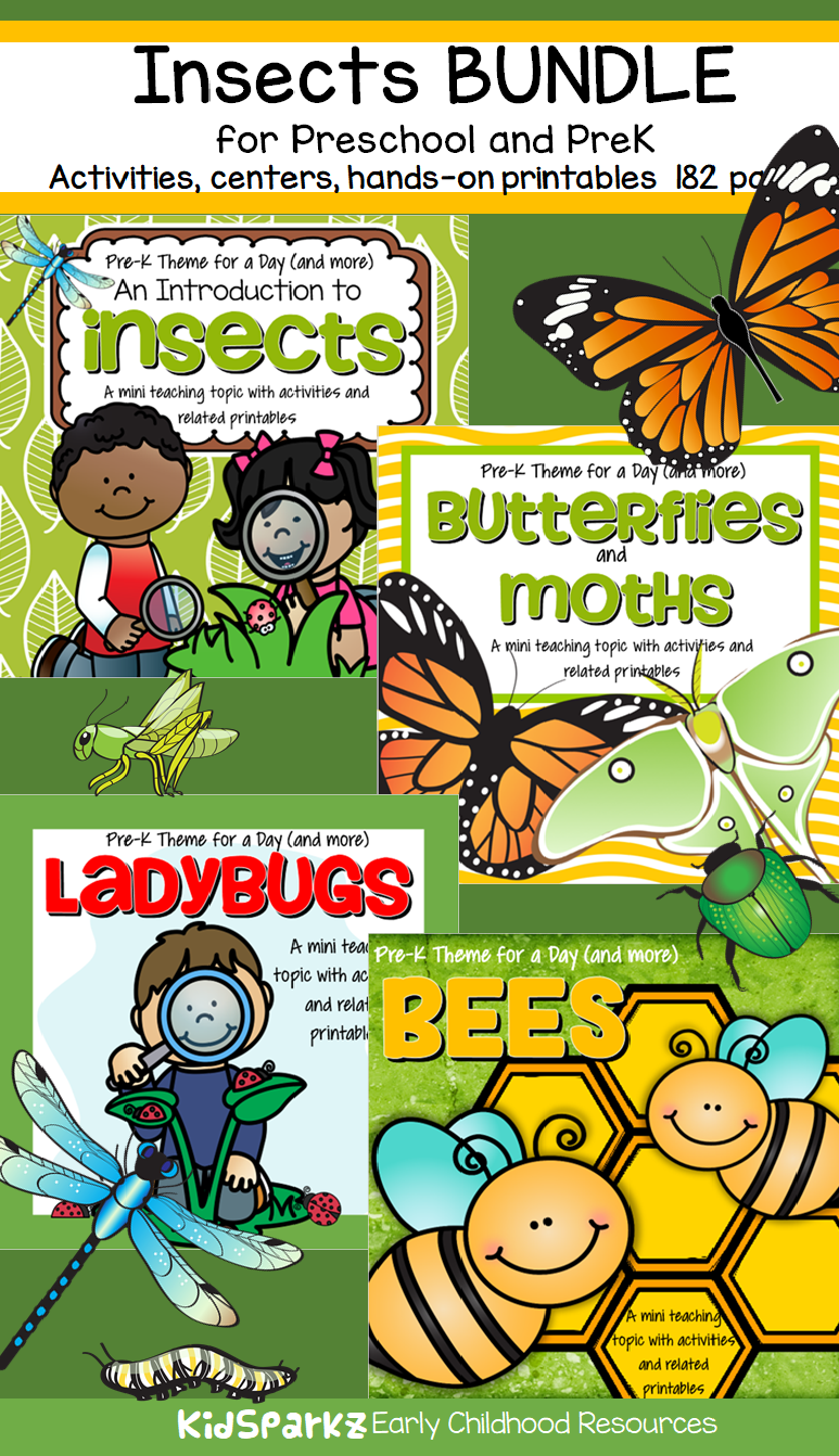 INSECTS BUNDLE Science Math Literacy Centers Activities For Preschool Pre K
