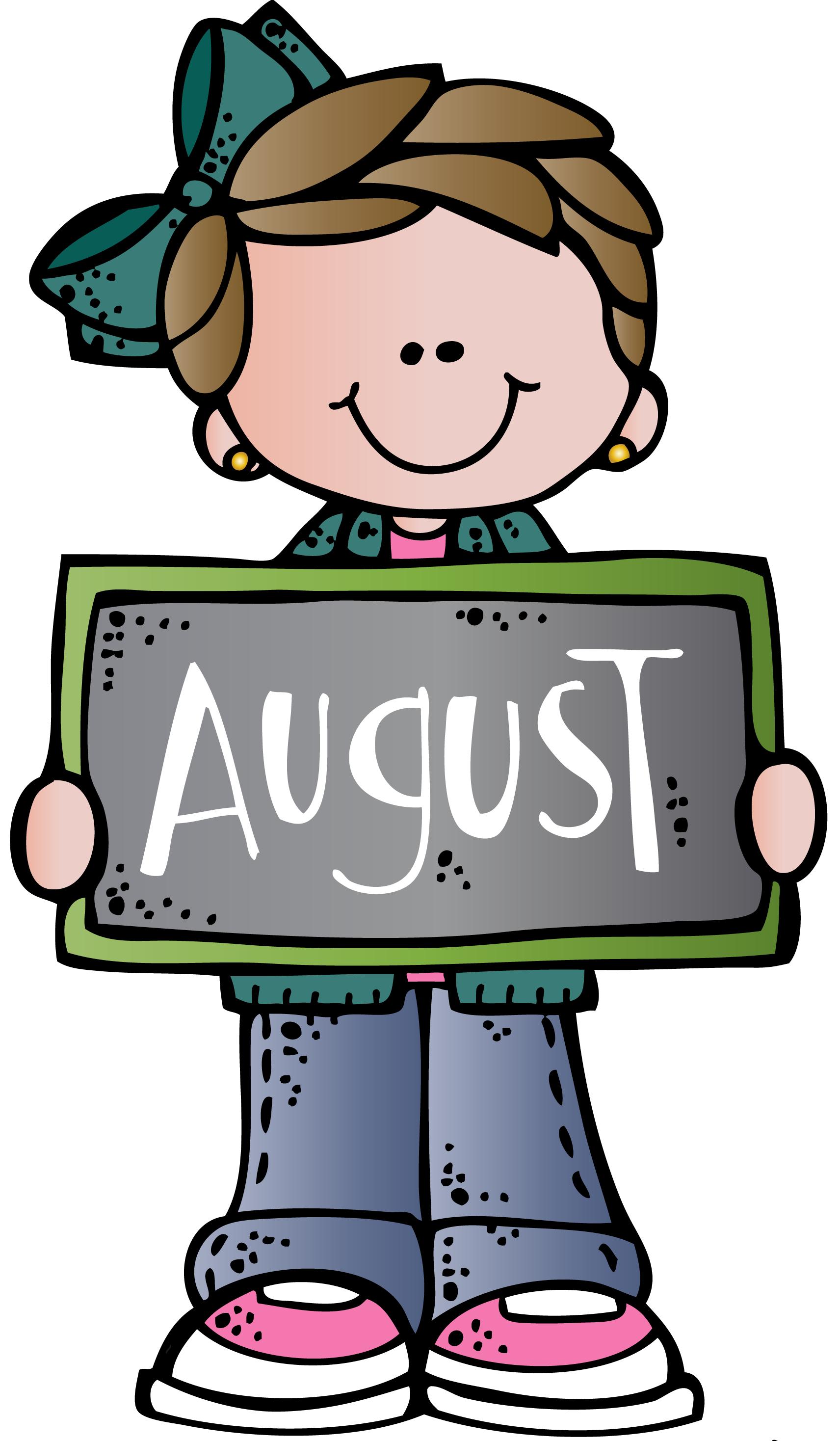 August Clipart Clip Art Melonheadz Clipart Months In A Year