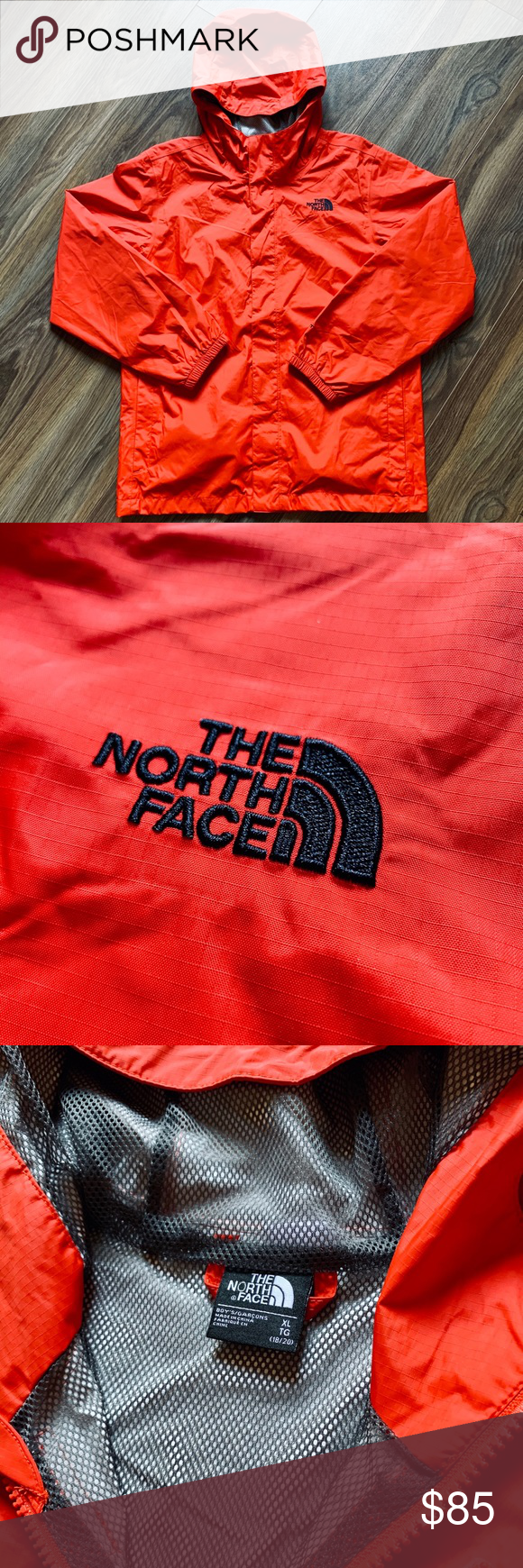 NWOT Youth TNF The North Face Rain Jacket NWOT Youth TNF The North Face Rain Jacket  RedOrange   Youth XL  The North Face Jackets & Coats Raincoats