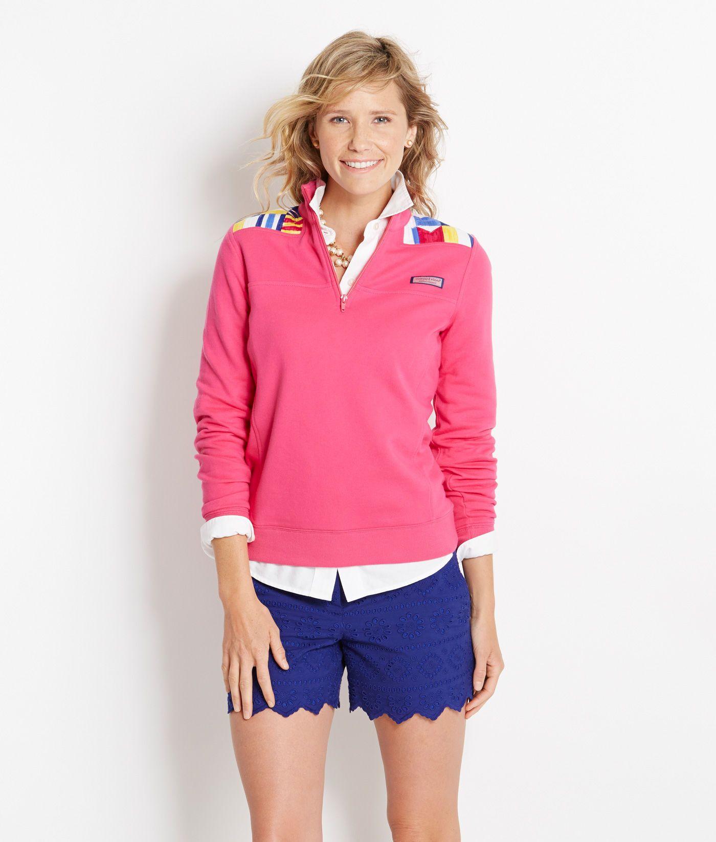 shop pullovers nautical flag shep shirt for women in lipstick