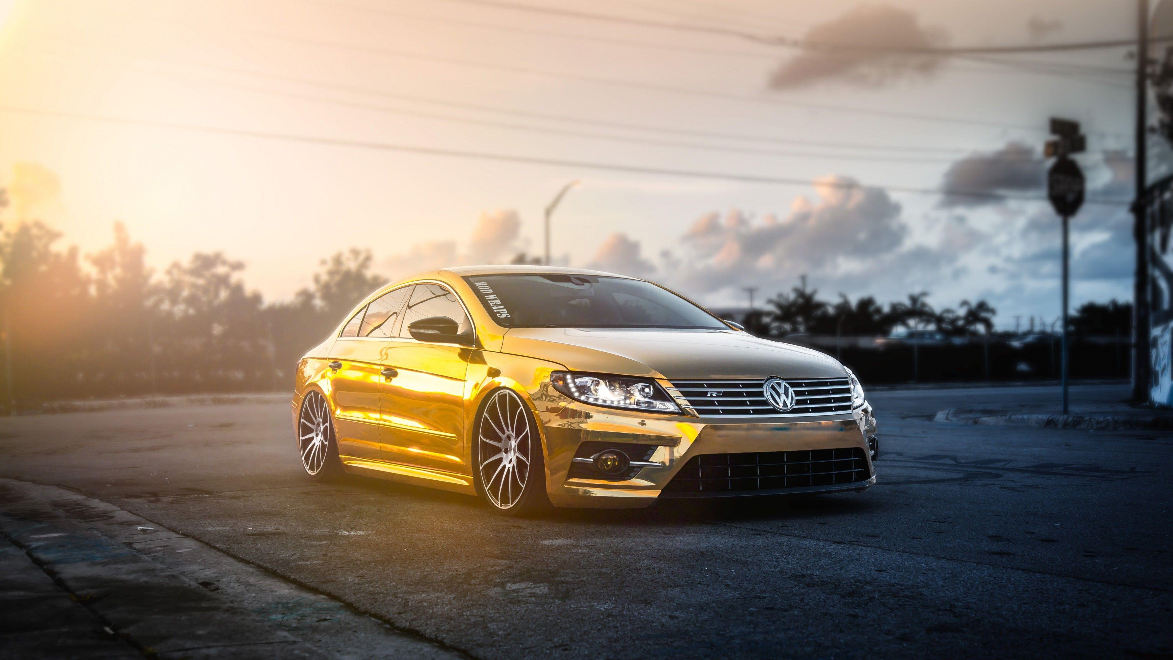 Golden Volkswagen Passat Volkswagen Wallpapers Volkswagen