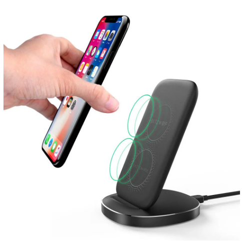 Blitzwolf Bw Fwc6 10w 7 5w 5w Dual Coils Qi Chargeur Rapide Sans Fil Stand Holder In 2020 Charger Stand Wireless Charger Cell Phone Accessories