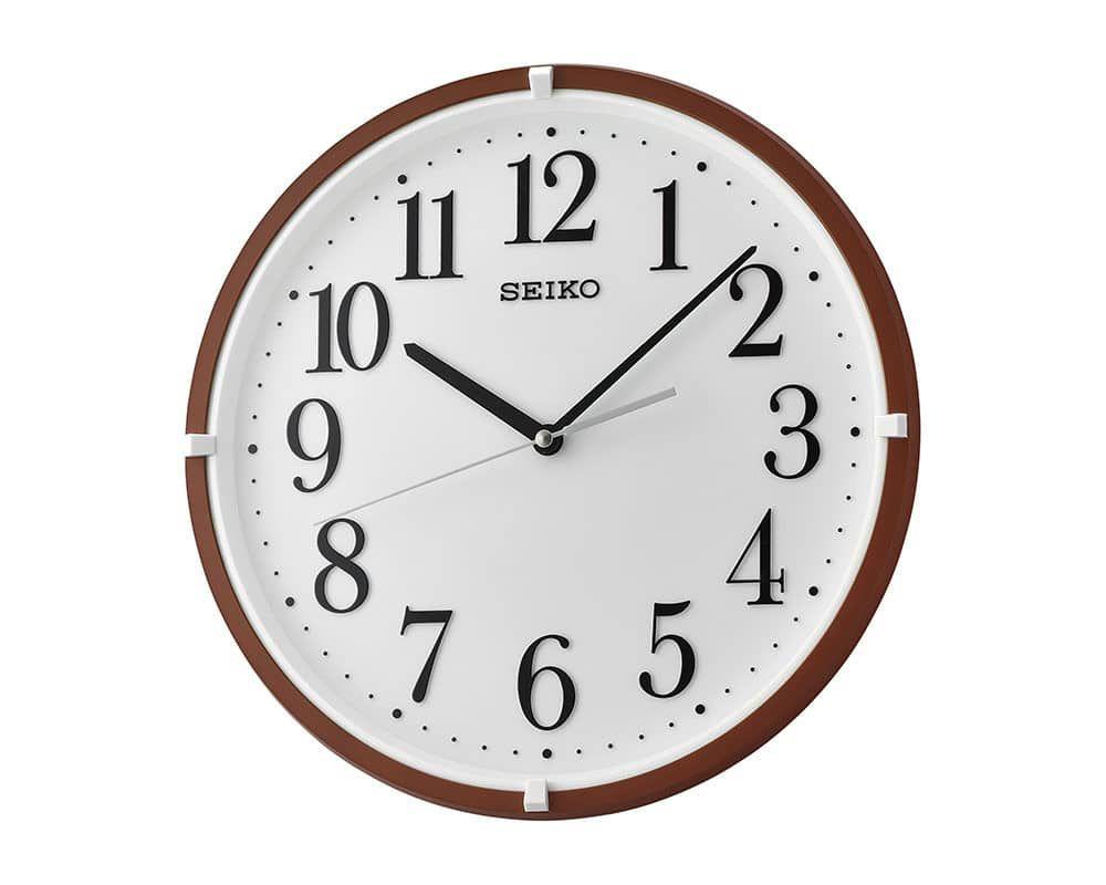 ساعة حائط سيكو برواز بلاستيك Qxa930b Clock Wall Clock Wall