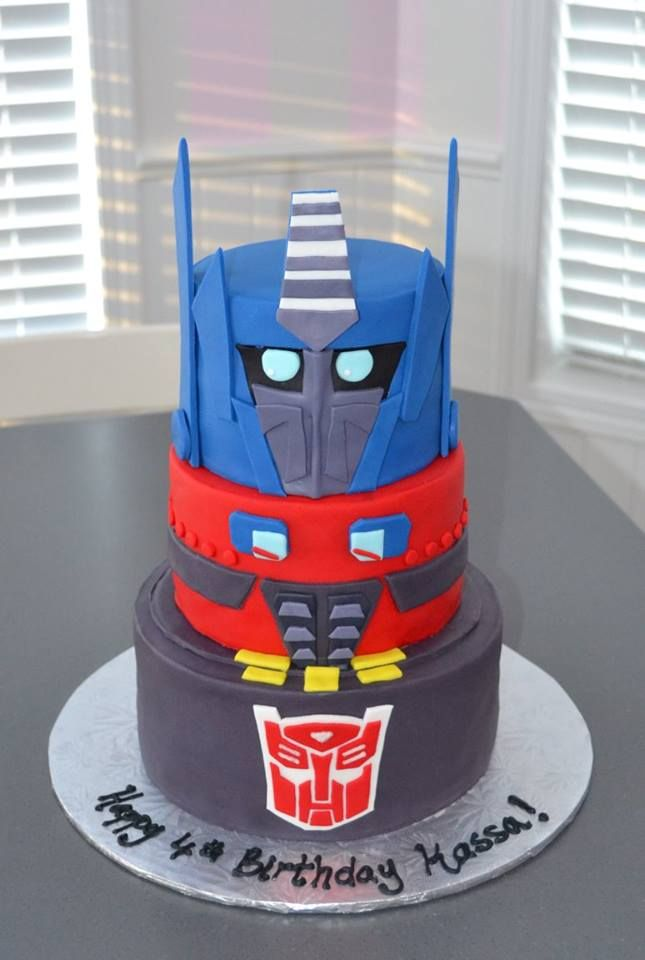 Fantastic Transformers Cake Birthday Cake For Boys Robot Cake With Images Personalised Birthday Cards Paralily Jamesorg
