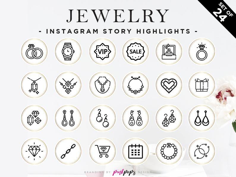Black Gold Jewelry Instagram Highlights, Gold Instagram
