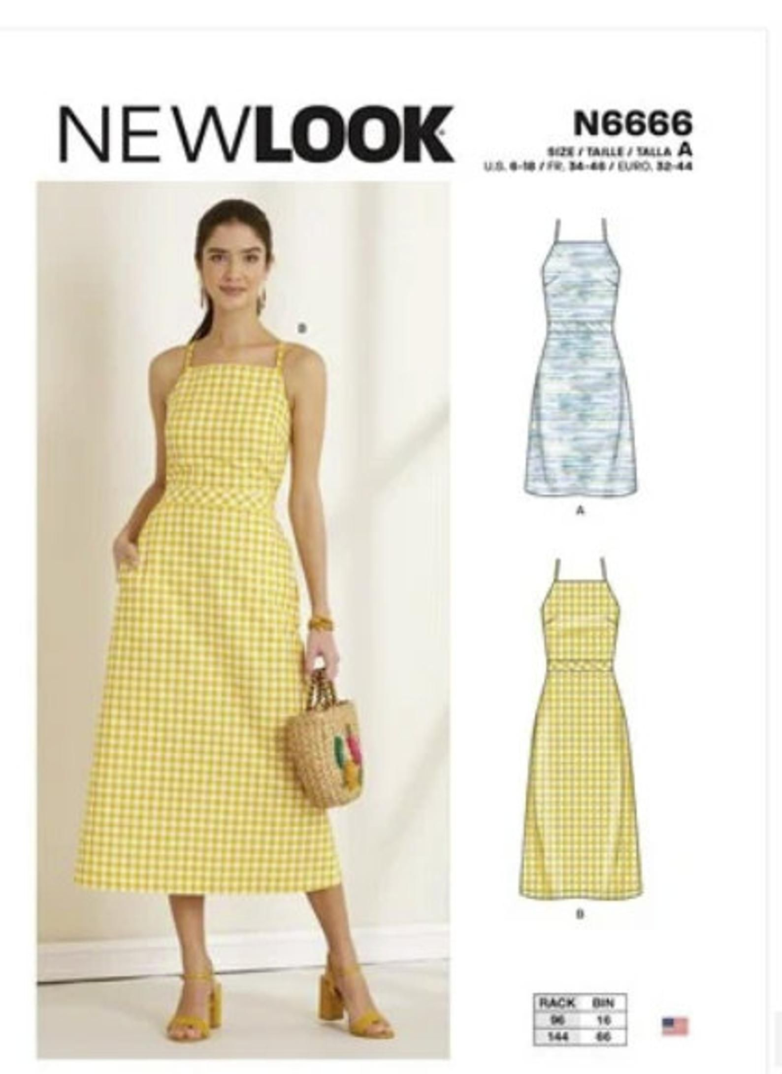 Sewing Pattern For Womens Dresses New Look Pattern N6666 Misses Halter Dresses With Back Tie New Pattern Womens Summer Dress Sewing Patterns Free Women Dress Sewing Patterns Free Summer Dress Sewing [ 2180 x 1588 Pixel ]