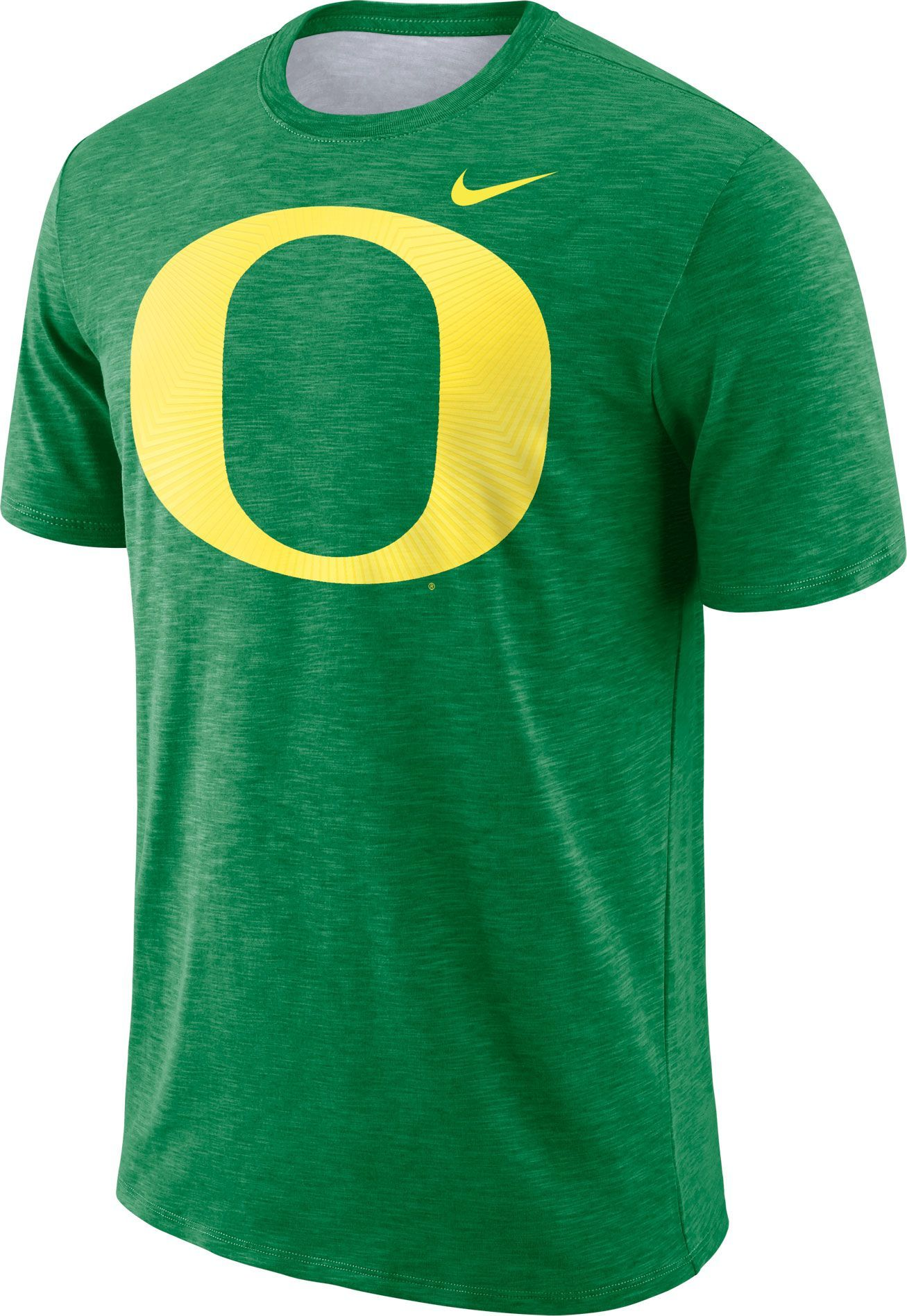 10f0be90 Nike Men's Oregon Ducks Green Dri-FIT Football Sideline Slub T-Shirt, Team