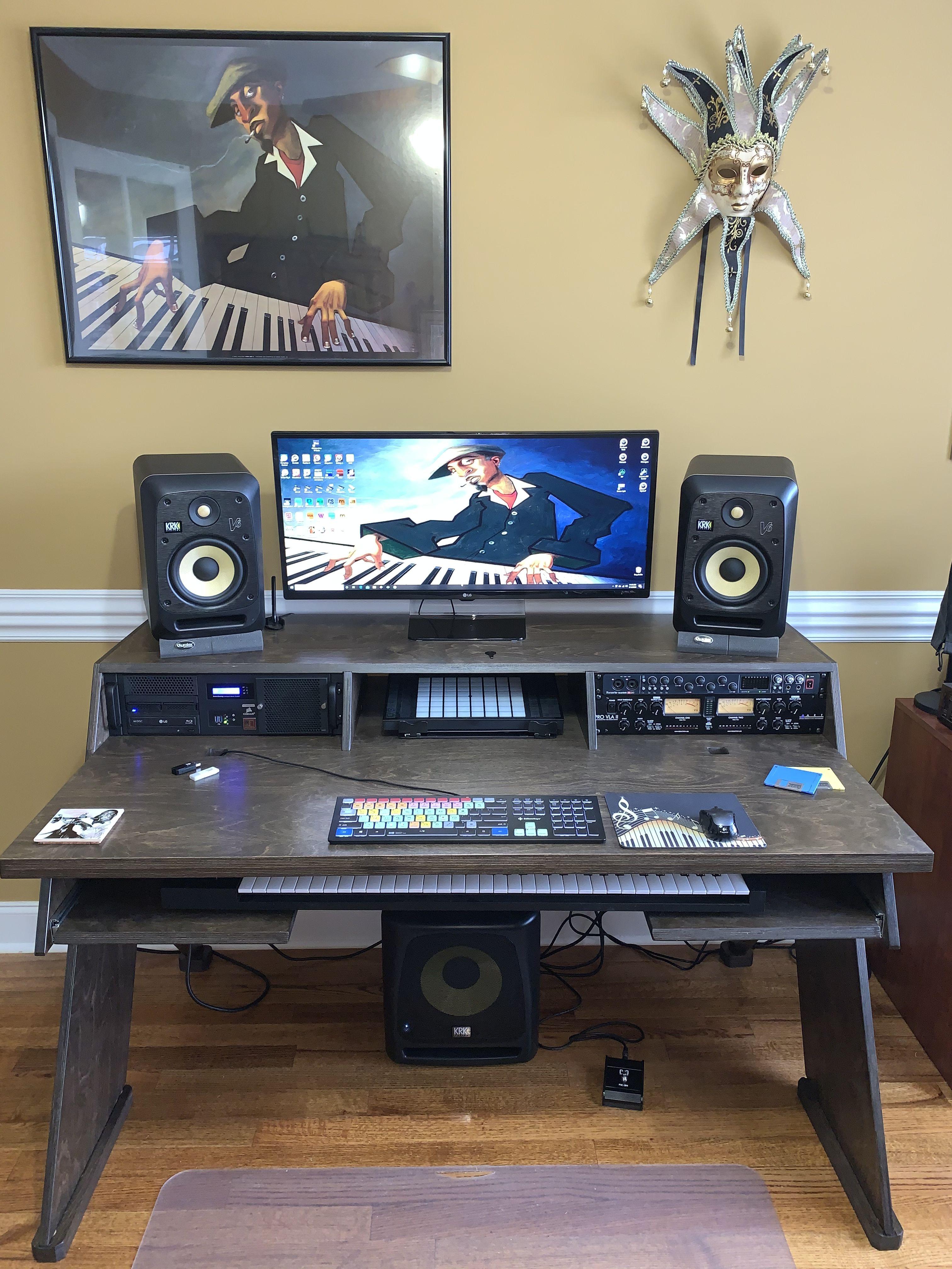 Pin by big v on output platform a studio desk for