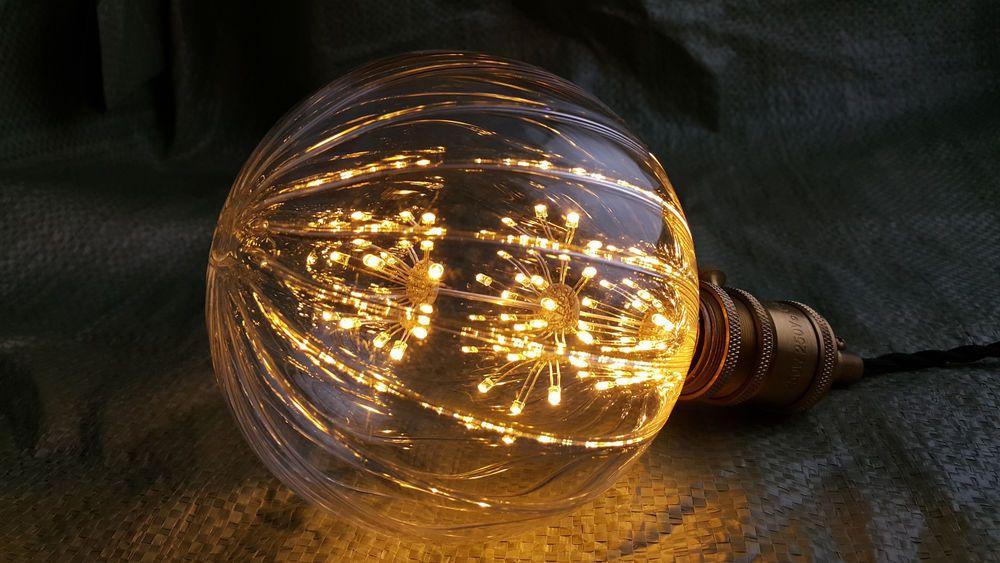 Large Pumpkin Style Fireworks Led Light Edison Bulb Lamp Decorative 110 220v Sp Edison Bulb Lamp Bulb Led Lights