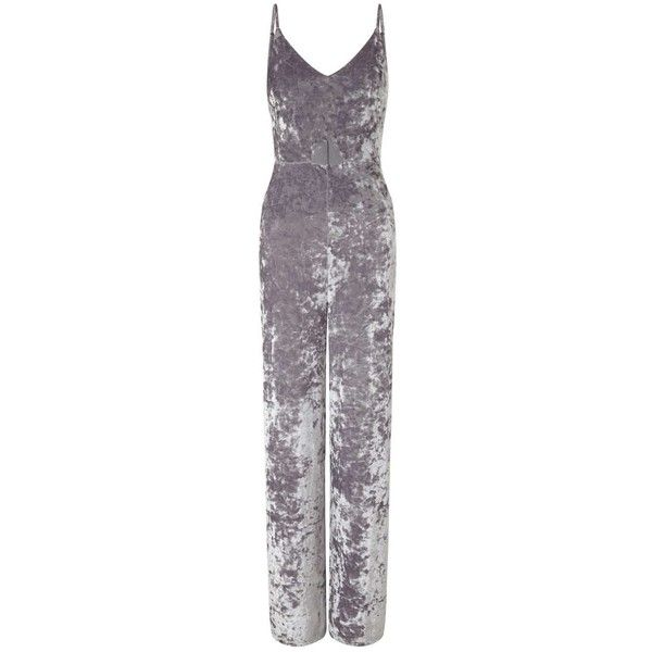 fd4e2b3fdbc Miss Selfridge Velvet Cut-Out Jumpsuit ( 23) ❤ liked on Polyvore featuring  jumpsuits