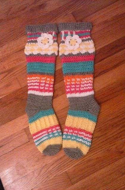 8a11b685690 Ravelry  Free Spirit Knee High Slipper Socks pattern by Clarissa Paige Dove