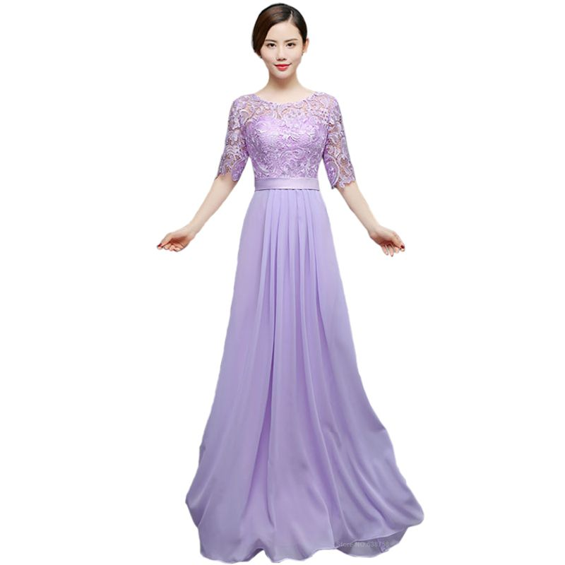 Suosikki New 2016 O-neck A-line Chiffon Long Mother Of The Bride ...