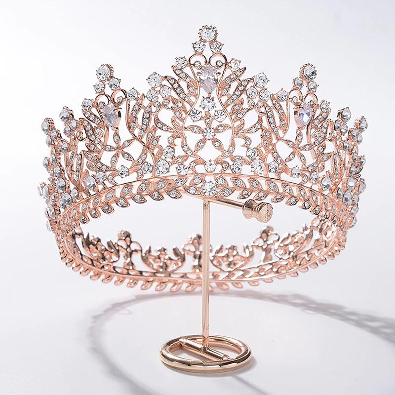 Hairstyles With Crown Queen: Baroque Queen Bride Tiara Crown