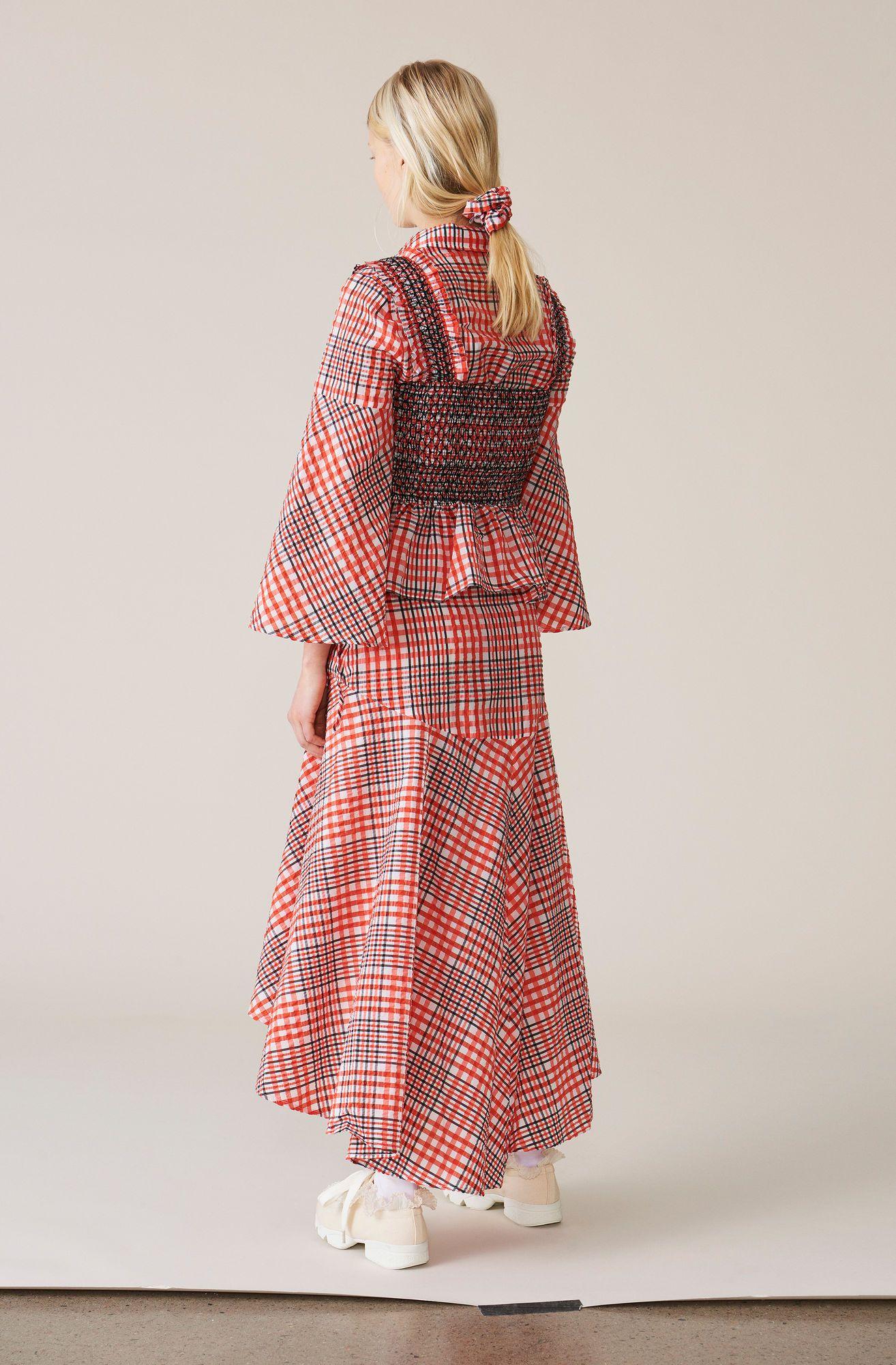 65b9229f21 Charron Wrap Skirt, Big Apple Red, hi-res | GANNI in 2019 | Tops ...