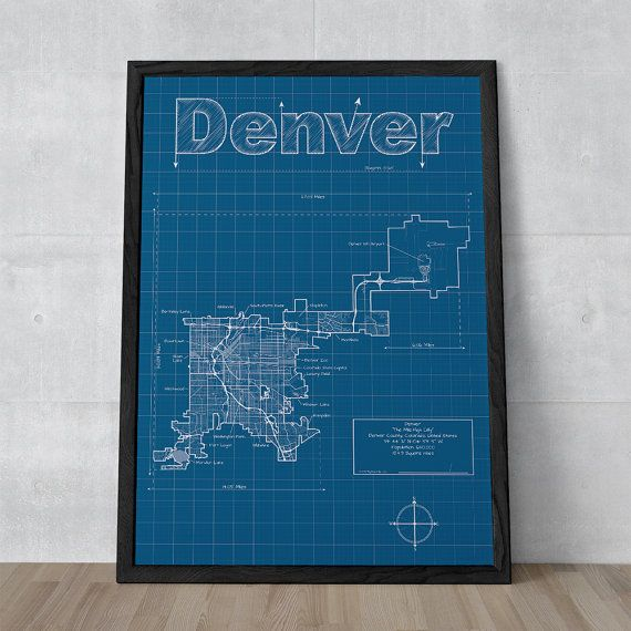 Denver map 18 x 24 print denver map wall art street map denver map 18 x 24 print denver map wall art street map malvernweather Images