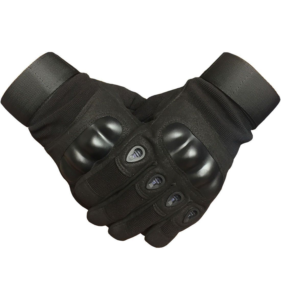 516f4d4ace56 Adiew Military Hard Knuckle Tactical Touch Screen Black Glove Full ...