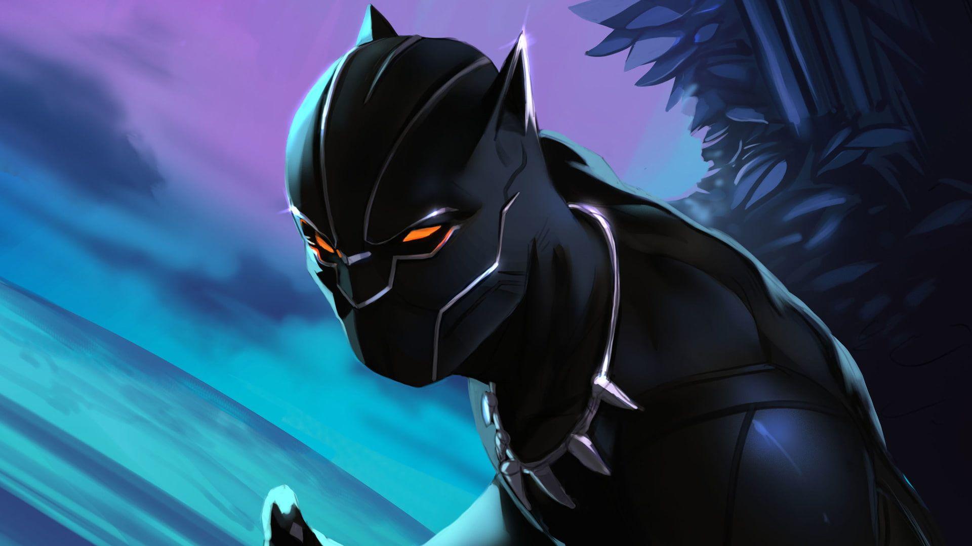 Black Panther Artwork Hd Artist Digital Art Artstation Superheroes 1080p Wallpaper Hdwallpaper Desktop In 2020 Black Panther Artwork Digital Art