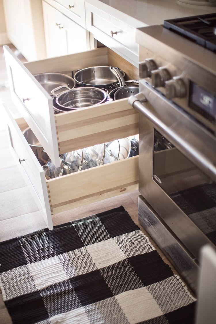 Organize Your Pots And Pans Like A Pro In 2020 Small Kitchen Storage Kitchen Storage Hacks Kitchen Drawer Organization