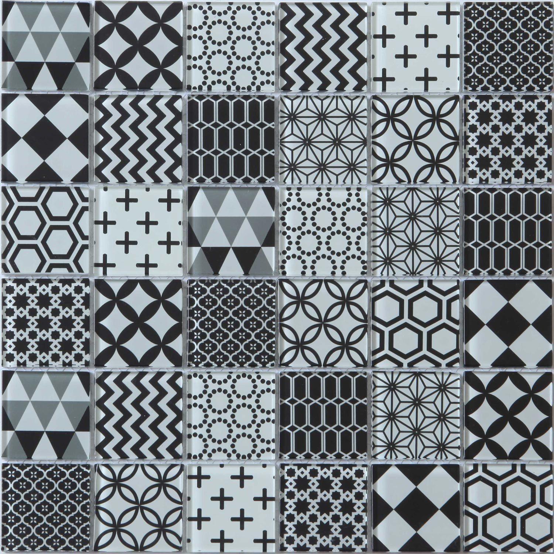 Mosaique Mur Shaker Decor Noir Et Blanc Decor Noir Et Blanc Noir Et Blanc Mosaique
