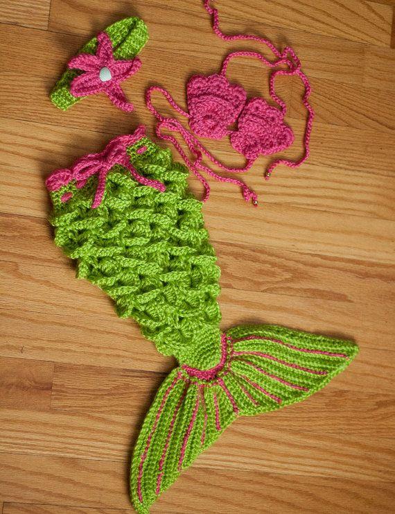 CUSTOM ORDER Crochet Mermaid Set | Tejido, Sirenitas y Gorros crochet