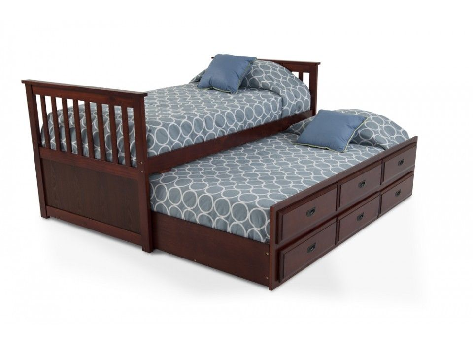chadwick twin captain bed with trundle - bob's discount furniture