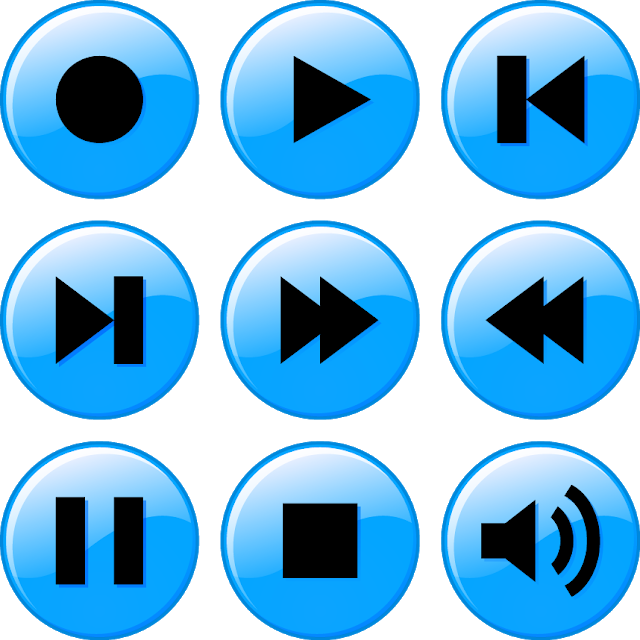 Multimedia Media Player Video Web Movie Vector Button Interface Play Music Pause Audio Volume Sound Control In 2020 Coloring Download Icon Music Players