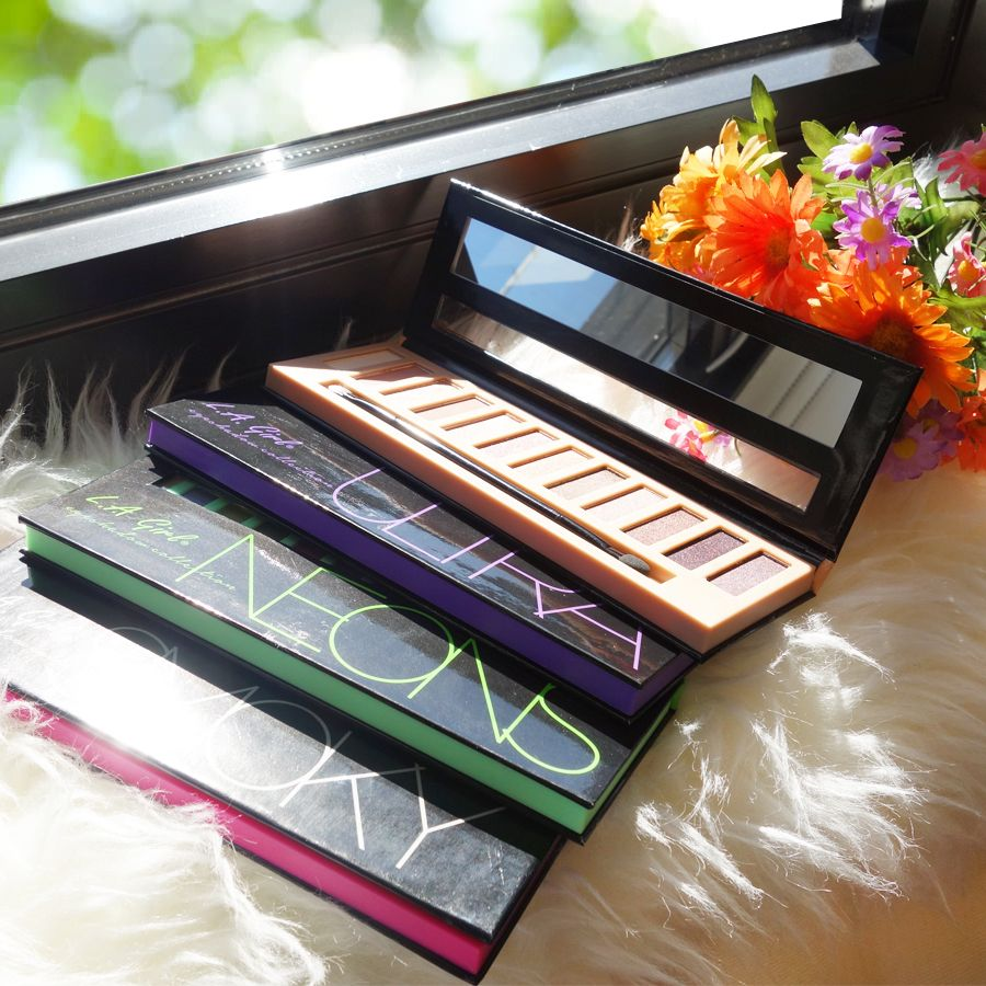 The Variety Of Colors And Textures In Beauty Brick Eyeshadow La Girl Eye Shadow 7 Each Or