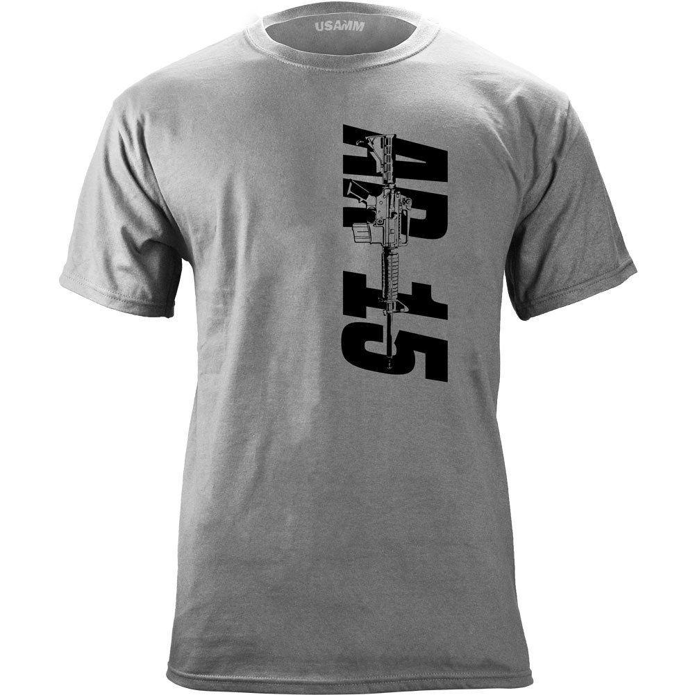 Made in U.S AR15 T-Shirt Unisex Dark Colors Navy