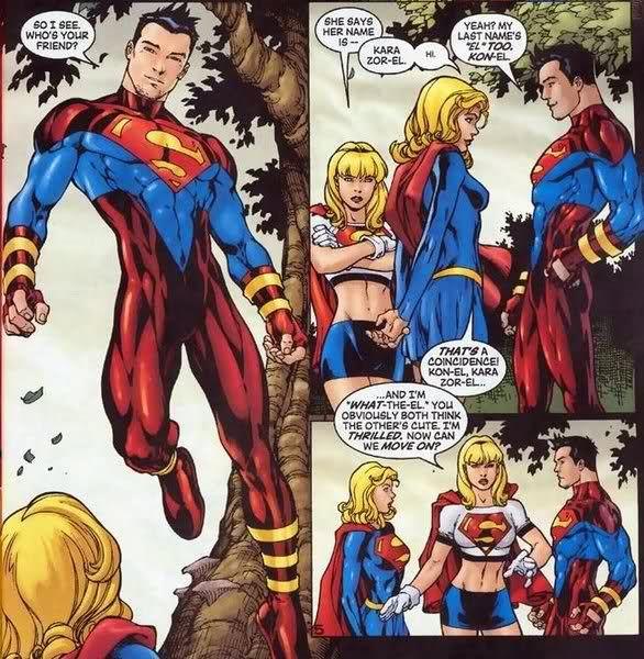 superboy vs supergirl thread question on jla in death. Black Bedroom Furniture Sets. Home Design Ideas