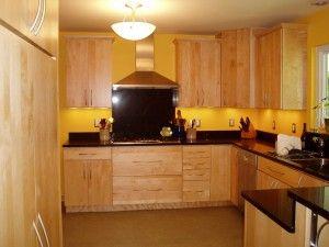 Kitchen Decora Cabinets Natural Maple Marquis Slab Door