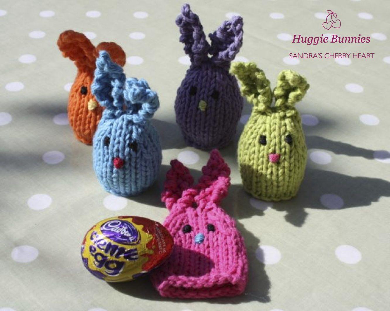 Knitting Easter Eggs : Cherry heart easter huggie bunnies free knitting pattern
