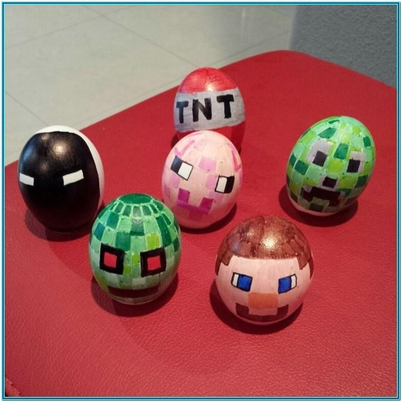 Boiled Egg Painting Ideas Easter Egg Crafts Minecraft Easter Eggs Easter Egg Decorating