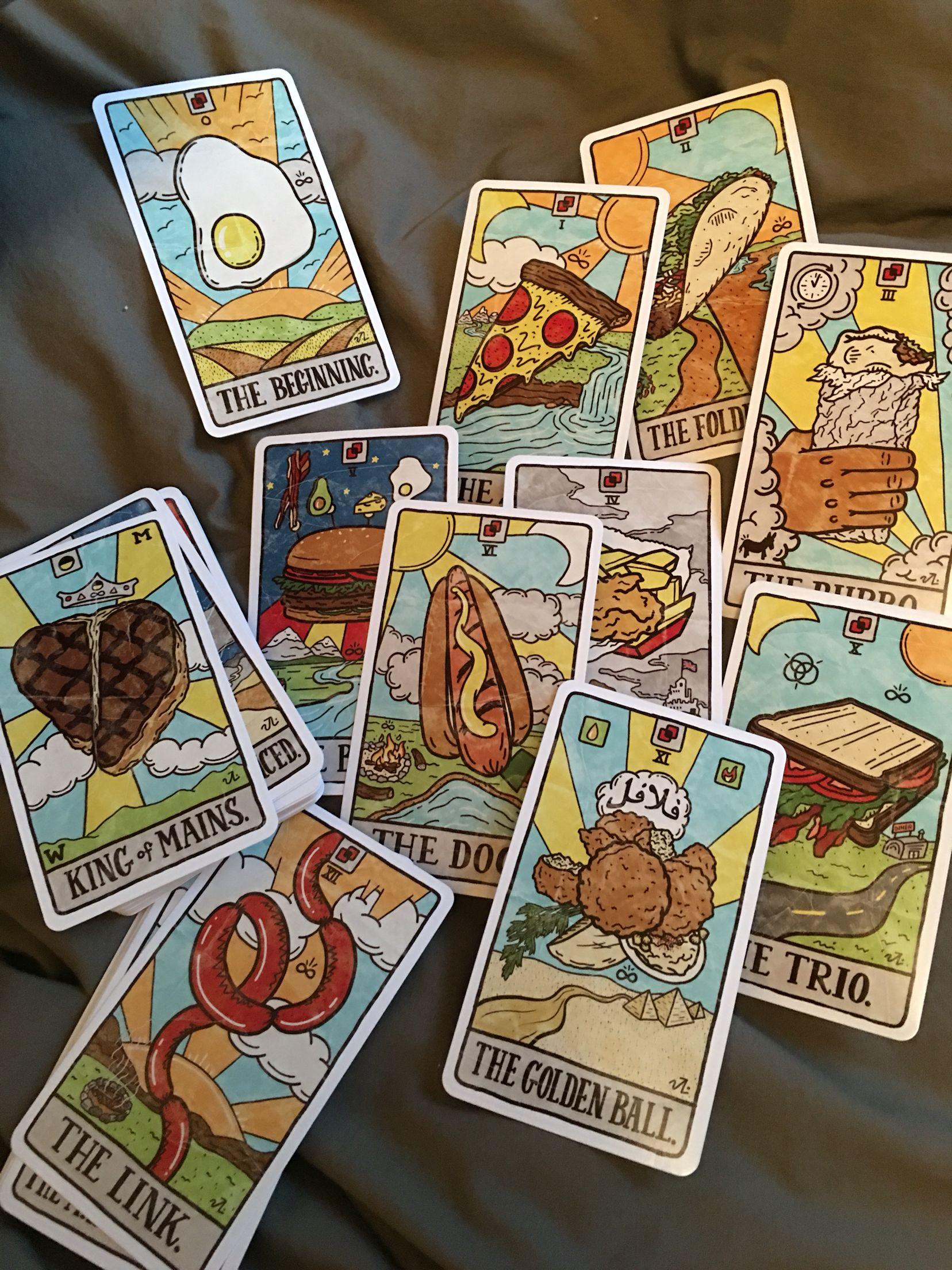 Food fortunes tarot deck by josh lafayette tarot decks