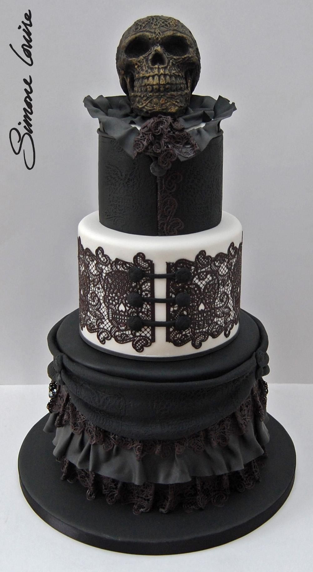 Awesome I Love The Corset Layer Gothic Wedding Cake Skull Wedding Cakes Birthday Cards Printable Inklcafe Filternl
