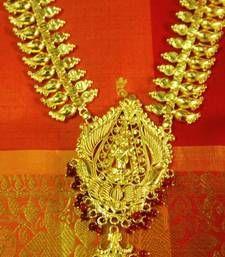 Buy Kerala Bridal temple jewellery - Lakshmi Haram Necklace online