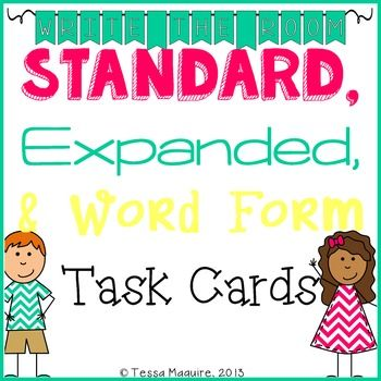 Place Value Practice Expanded Form, Standard Form, Word Form - how to make an order form in word