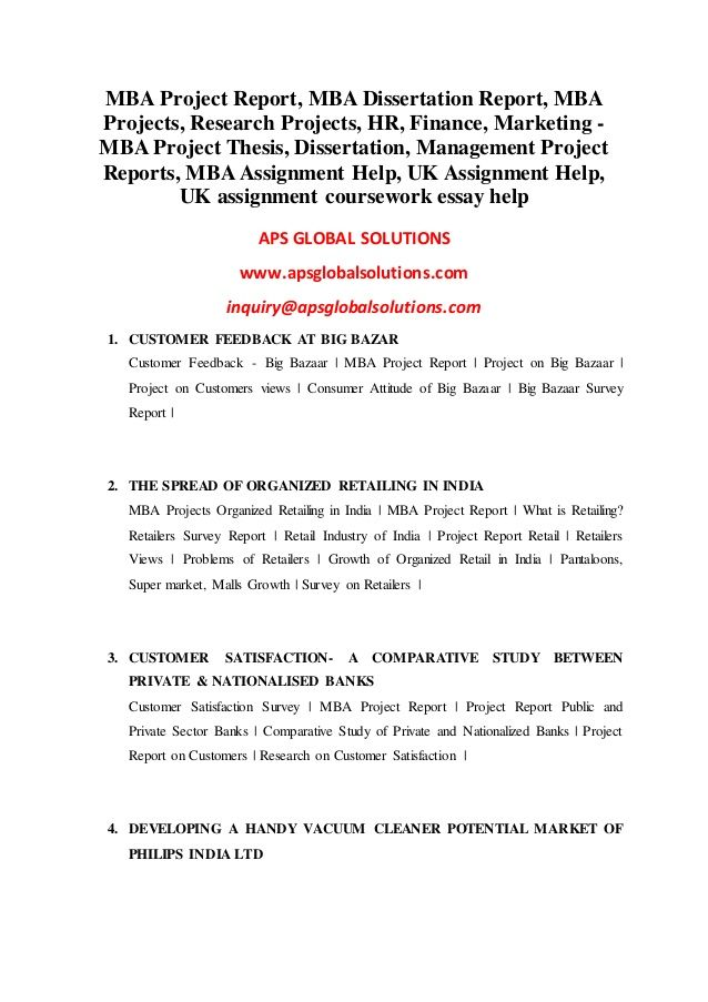 example essay of survey report