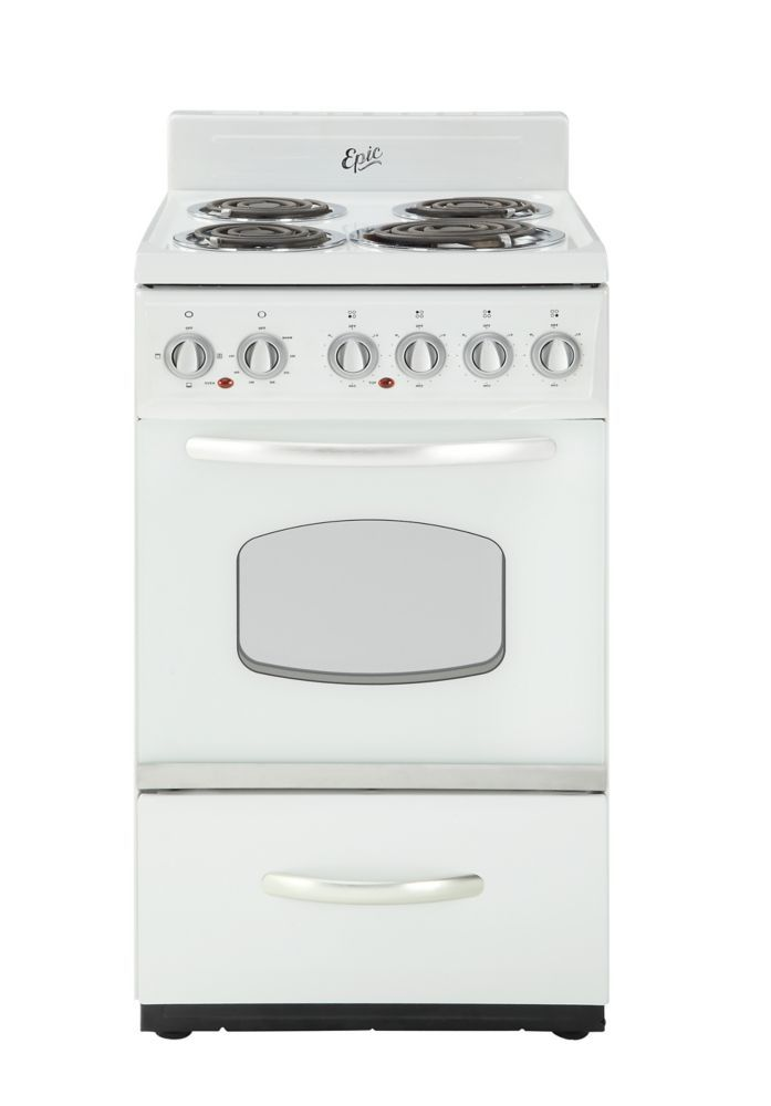 20 Inch Retro Electric Range In White Rockabilly Home Decor Electric Range Retro Appliances