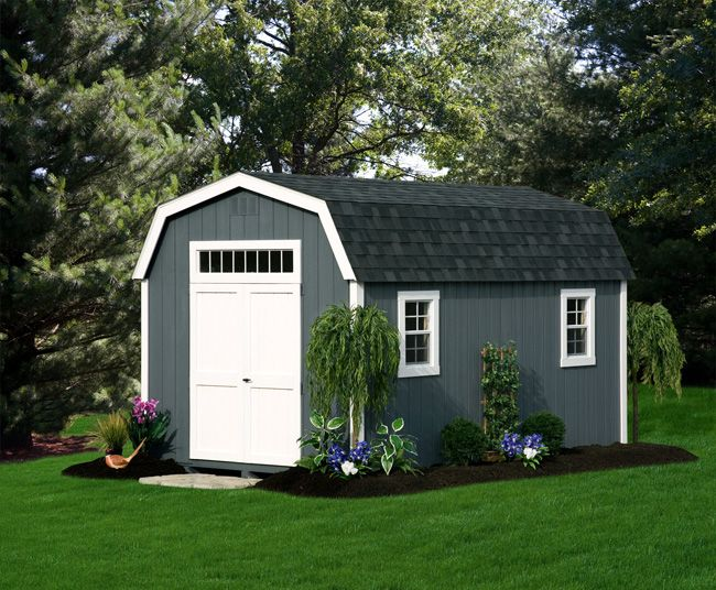 Deluxe Painted Dutch Barn Green Acres Outdoor Living Barns Sheds Shed Landscaping Backyard Sheds
