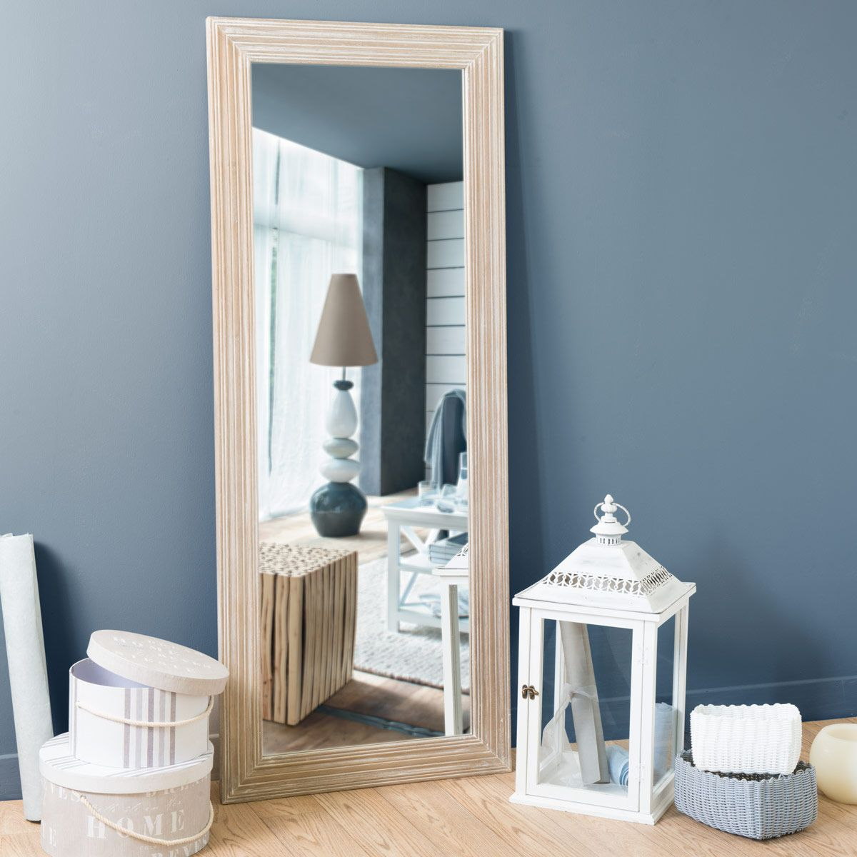 miroir campagne clair maisons du monde entr e pinterest salons decoration and wood mirror. Black Bedroom Furniture Sets. Home Design Ideas