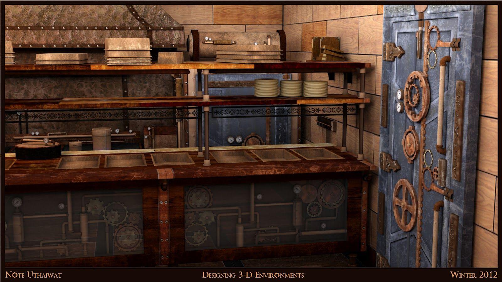 steampunk kitchen - Google Search