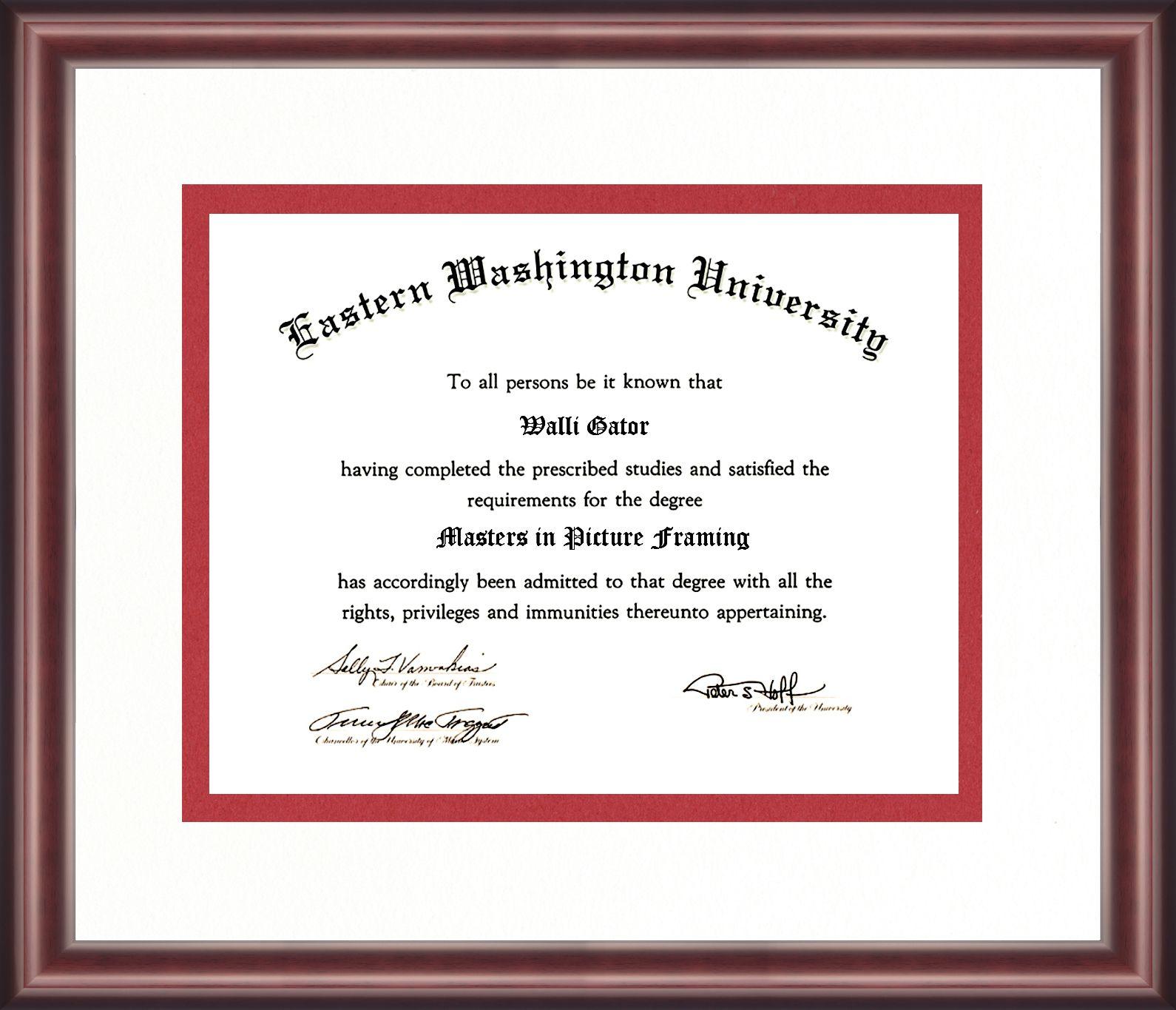 Eastern Washington University Diploma Frame Talking Walls Diploma Frame University Diploma University Of Washington