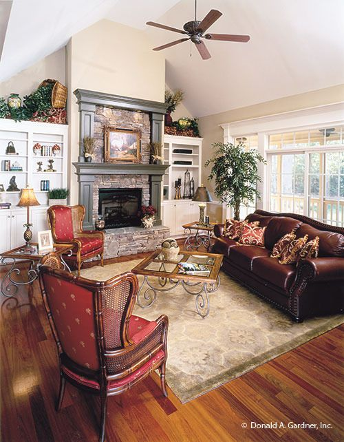 Great Room Photo Of Home Plan 967 The Satchwell Living Room Designs Great Rooms House Plans