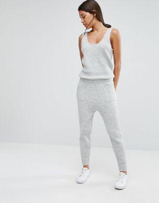 b7b4ca2241b3 Micha Lounge Knitted Ribbed Jumpsuit